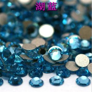 Round Crystal Glass Stone Crystal Beads Crystal Material Rhinestone (FB-ss6 aquamarine) pictures & photos