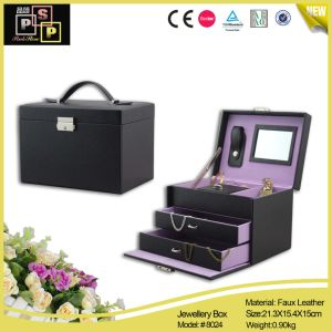 Pink Store Package PU Leather Jewelry Cabinet (8027) pictures & photos