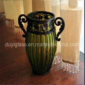 Blown Glass Craft Vase for Home Decoration