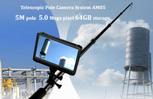 6 Lamps Long Telescopic Pole 5MP 1080P Digital HD Chimney Inspection Camera with DVR pictures & photos