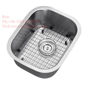 "18-1/2""X-1/2"" Stainless Steel Under Mount Single Bowl Kitchen Sink pictures & photos"