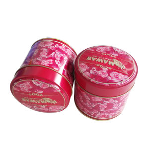 Cylinder Embossing Tea Tin Container Rose Printing Wholesale pictures & photos