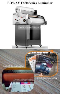 Boway 650mm A3 A4 Paper Size Hot Roll and Cold Pouch Film Laminator F650b pictures & photos