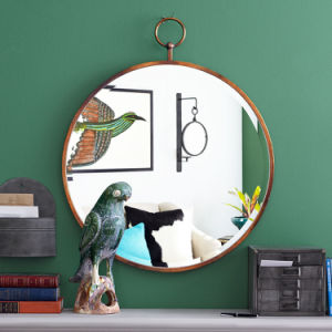 Hot Sales Antique Gold Round Frame Looking Glass Wall Mirror for Fashion Home Decoration pictures & photos