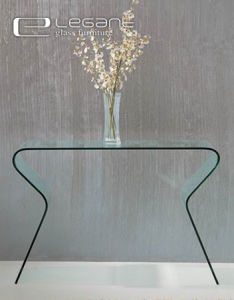 Modern Hot Bend Glass Console Table with S Shape Legs pictures & photos