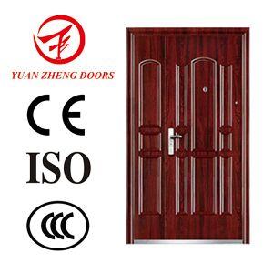 China Supplier Steel Door Double Swing Door Exterior Door Design pictures & photos