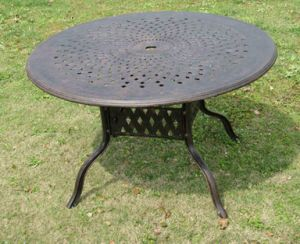 "Patio 48"" Cast Aluminum Round Table Furniture (Easy assembly) pictures & photos"