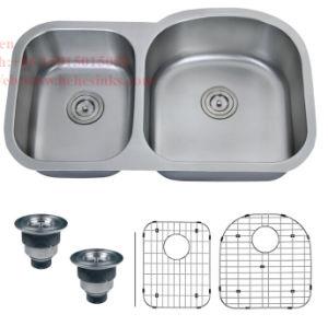 Sink, Kitchen Sink, Stainless Steel Under Mount Double Bowl Kitchen Sink pictures & photos