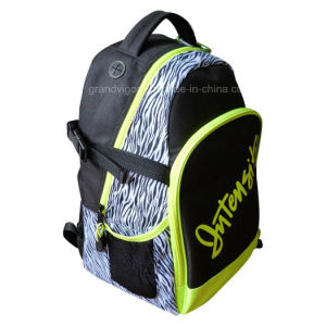Zebra Polyester Sports Backpack with Mesh Side Pocket pictures & photos
