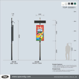Solar Power Lamp Post Static Banner Light Box pictures & photos