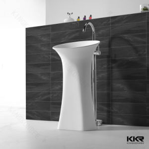 Kingkonree Solid Surface Freestanding Bathroom Sink Pedestal Sinks pictures & photos