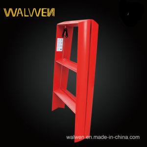 Plastic-Sprayed Double Folding Aluminum Step Ladder pictures & photos