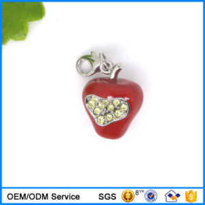 Hot Sale Enamel Red Apple Bracelet Charm for Wholesale #17307 pictures & photos