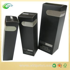 Olive Oil Cosmetic Packaging Black Paper Box with Stamped (CKT-CB-329)