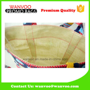 Eco-Friendly Custom China Painted Design Jute Tote Handbag for Grocery pictures & photos