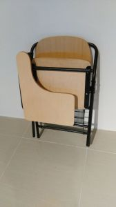 Hot Sale Student Folding Classroom Chair with Writing Table Pad pictures & photos