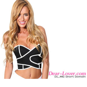 Fashion Wipe out Bustier Crop Top pictures & photos