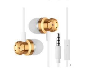 3.5mm Nickel-Plated Universal Metal Turbo Bass Wired MP3 Headset Earphone pictures & photos