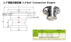 3.5′′ Bolt Connection Kingpin pictures & photos