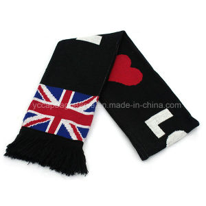 Promotional Cotton Football Fan Soccer Knitted Scarf pictures & photos