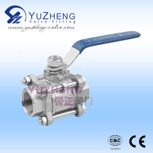 3PC Stainless Steel Thread Ball Valve pictures & photos