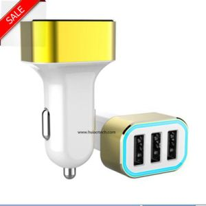 Hot Sale 3 USB Port Car Charger Adapter for Mobile Phone, GPS Navigation, Car Camcorder, Car Controller pictures & photos