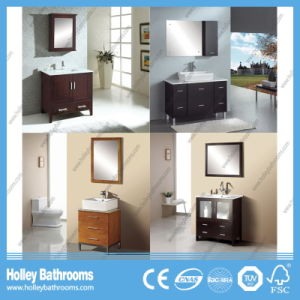 Compact Classic Solid Wood Bathroom Unit with Mirror Cabinet (BV177W) pictures & photos