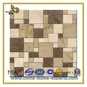 Mix Color Natural Stone Marble Mosaic Tiles for Background (YQC) pictures & photos