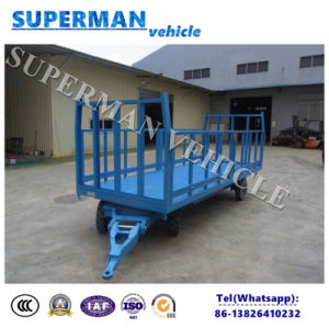 3 Tons Utility Activity Guardrail Flatbed Trailer Cargo Full Trailer for Luggage pictures & photos