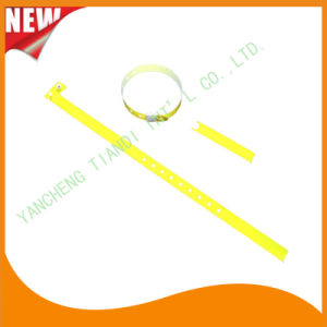 Hospital Plastic ID Wristband Bracelet Bands with Tail (8060-16) pictures & photos