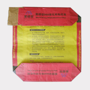 Flat Bottom Kraft Paper Valve Bag for Chemical Powder Packaging pictures & photos