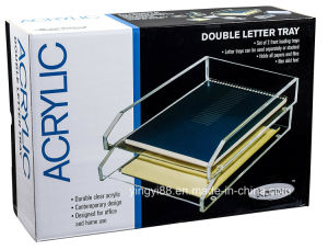 Wholesale Custom Acrylic Double Letter Tray pictures & photos