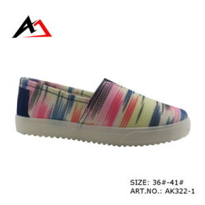 Injection Molding Shoes Colorful Slip-on Canvas for Women (AK322) pictures & photos