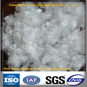 Synthetic Fiber PVA Water Soluble Fiber China Manufacturers Cutting Fiber pictures & photos