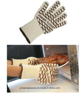 Silicone Aramid Fiber Microwave Oven Gloves pictures & photos