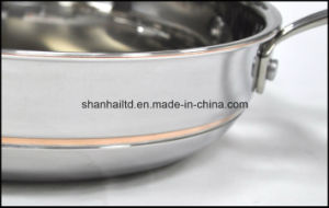 5 Layer Copper Core Chinese Wok pictures & photos