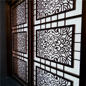 Foshan Customized Color Stainless Steel Screen for Living Room Wall Panel, Hollow Metal Laser Cutting Screen pictures & photos