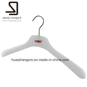 White Plastic Clothes Hanger, Cheap Garment Hangers pictures & photos