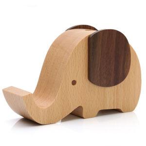 Little Elephant Shape Wooden Music Box pictures & photos