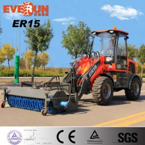 Everun Brand New Condition Er15 Mini Wheel Loader with Snow Plow for Snow Removal pictures & photos