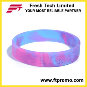 Colourful OEM Silicone Wristband with Logo pictures & photos