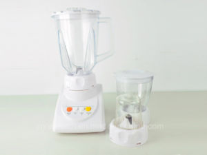 1.5L Thicker Plastic Jar 4 Speeds 3 in 1 Electric Blender with Grinder and Chopper pictures & photos