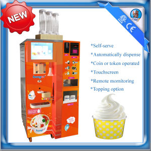 vending automatic ice cream machine with topping dispenser HM931T pictures & photos