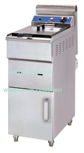 Popular Kitchen Equipment Stainless Steel Standing Gas Fryer pictures & photos