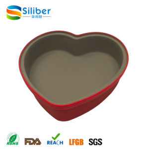 FDA Approval Heart Shaped Silicone Cake Bakeware Mould
