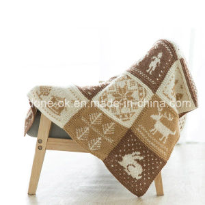 Classic Handmade Hand Knit Blanket Wool Throw Fair Isle England pictures & photos