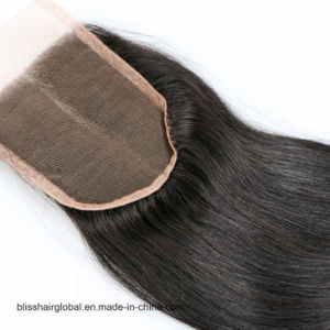 Bliss Hair 4X4 Lace Closure Three/Free/Middle Part Top Swiss Lace Closure Straight Indian Virgin Human Hair Closures Pieces pictures & photos
