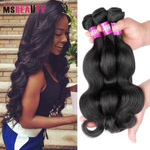 Remy Human Hair Unprocessed Brazilian Body Wave Hair pictures & photos