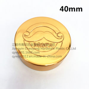 40mm Aluminum Plastic Cap with Logo Embossed for Health Care Product pictures & photos