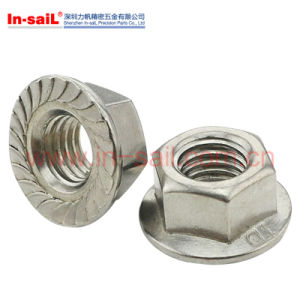 Flange Hexgonal Nut in Shenzhen Manufaturer pictures & photos